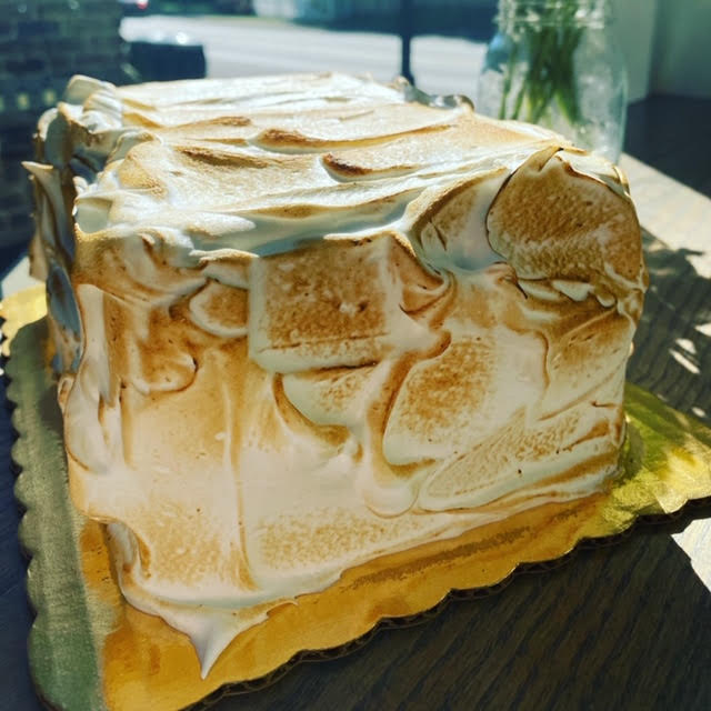 S\'mores Icebox Cake- (large) 5 layers of our homemade graham wrapped in marshmallow whipped cream and chocolate ganache covered in toasted marshmallow- large feeds 12