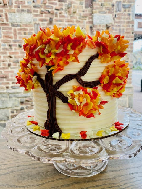 Fall Tree Upgrade- please add this in addition to flavor of cake