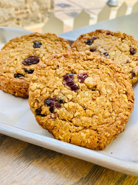 Awesome Breakfast Cookies- 6 whole wheat, oat, walnut and dried cranberry cookie